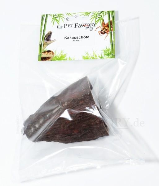 Kakaoschote halbiert
