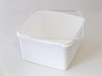 Kunststoffdose Braplast quadratisch 3L, weiss
