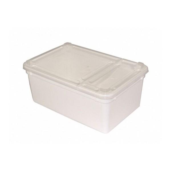 Kunststoffdose Braplast mit Klappdeckel 1,3L, weiss