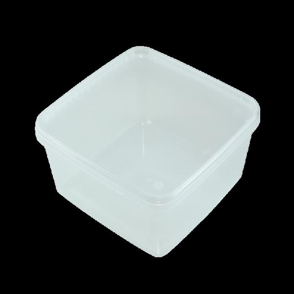 Kunststoffdose Braplast quadratisch 3L, transparent